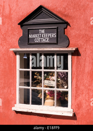 Old Market Keeper's Cottage window, Lavenham, Suffolk, England, UK - Stock Photo