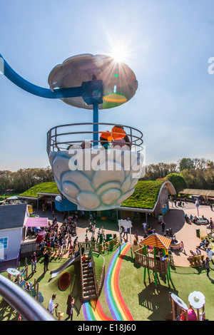 Windy Castle ride at Peppa Pig world, Paultons Park, Romsey, Southampton, England, United Kingdom. - Stock Photo