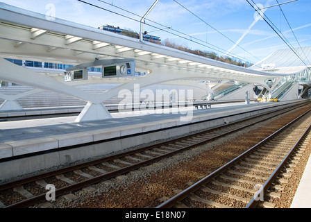 Guillemins train station in Liege, Belgium - Stock Photo