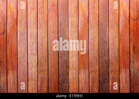 Wooden wall background made with vertical planks of hardwood - Stock Photo