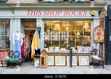This Shop Rocks shopfront on Brick Lane, Tower Hamlets, London, England, UK - Stock Photo