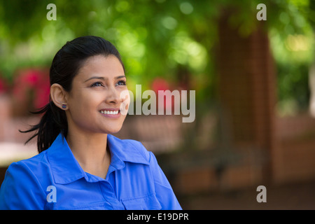 Daydreaming in park - Stock Photo