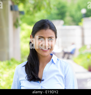 Headshot beautiful woman - Stock Photo