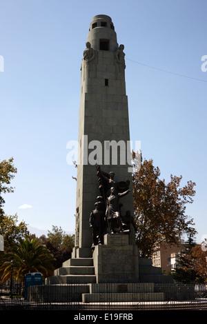 monumento a los heroes de iquique monument Santiago Chile - Stock Photo