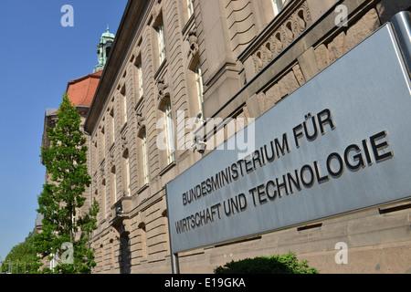 Bundesministerium fuer Wirtschaft und Technologie, Invalidenstrasse, Mitte, Berlin, Deutschland - Stock Photo