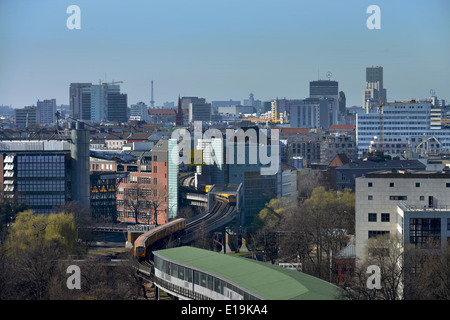 Panorama City West, Berlin, Deutschland U1, Moeckernbruecke, Kreuzberg, Berlin, Deutschland / Möckernbrücke - Stock Photo