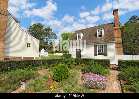 Duke Of Gloucester Street In Historic Colonial Williamsburg In The Stock Photo Royalty Free