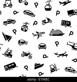 Seamless backdrop transport icons, wrapping paper, 10eps - Stock Photo