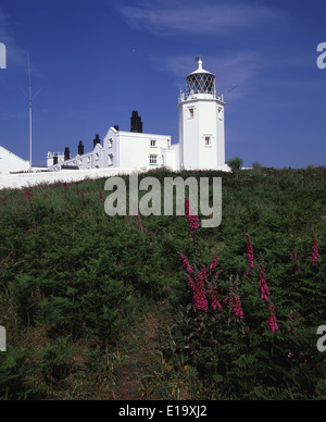 The lighthouse at Lizard Point, Cornwall on the South West Coastal Path, the most southerly place in the United - Stock Photo
