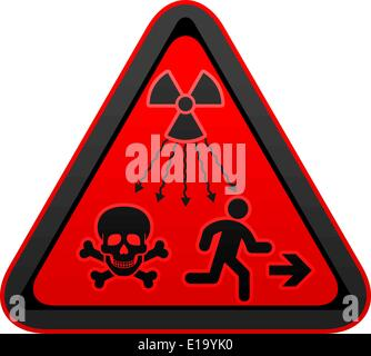 New ISO Standard  - Ionizing-Radiation Warning Supplementary Symbol. New UN radiation sign - Stock Photo
