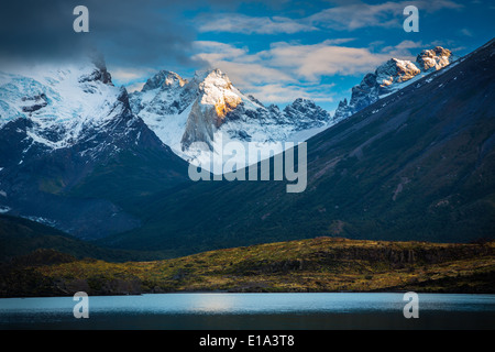 Torres del Paine National Park is a national park  in southern Chilean Patagonia - Stock Photo