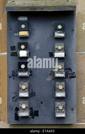 Multiple Flats Buzzer And Door Entry System Stock Photo 31740883