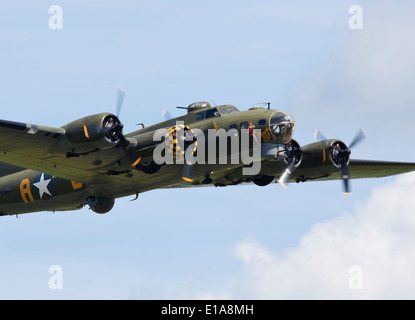 B-17 flying fortress based at Duxford airfield, England. - Stock Photo