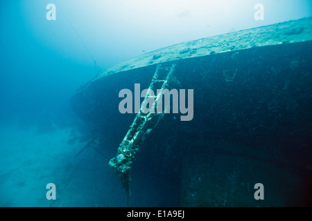 The Hilma Hooker is a shipwreck in Bonaire in the Caribbean Netherlands. It is a popular wreck diving site. Photo V.D.