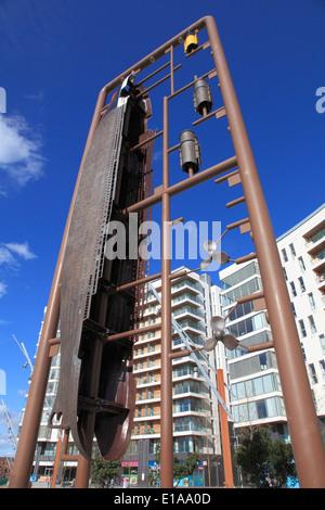 UK, Northern Ireland, Belfast, Titanic sculpture, - Stock Photo