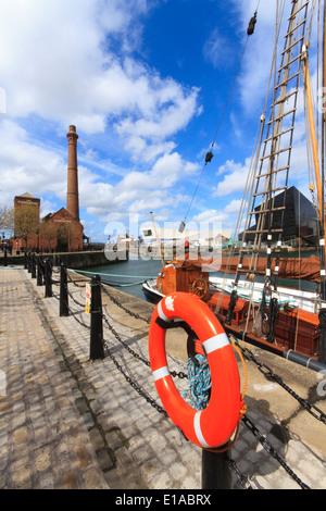 Albert Dock, Liverpool's historic waterfront, Liverpool, England. - Stock Photo