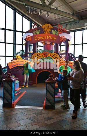 The MONTEREY BAY AQUARIUM has many installations geared towards children - MONTEREY, CALIFORNIA - Stock Photo