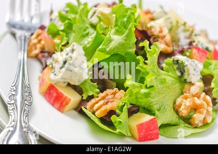 Fresh vegetarian salad with apple, lettuce, broccoli ...