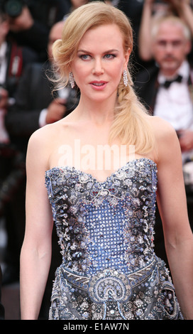 Nicole Kidman at the the Grace of Monaco gala screening and opening ceremony red carpet at the 67th Cannes Film - Stock Photo