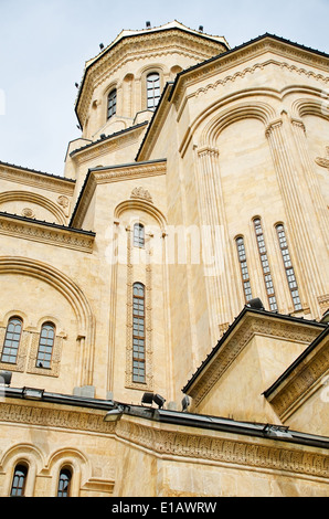 The holy trinity cathedral of tbilisi, commonly known as Sameba is the main Cathedral of the Georgian Orthodox Church - Stock Photo