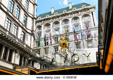 The Savoy Hotel, London, England, UK - Stock Photo