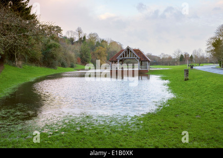 The Bandstand or Outdoor Pursuits building in Ross-On-Wye, Herefordshire. - Stock Photo