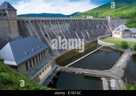 view to river dam eder river, hesse, germany, europe - Stock Photo