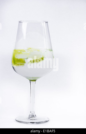 Gin and tonic served in a balloon glass - Stock Photo