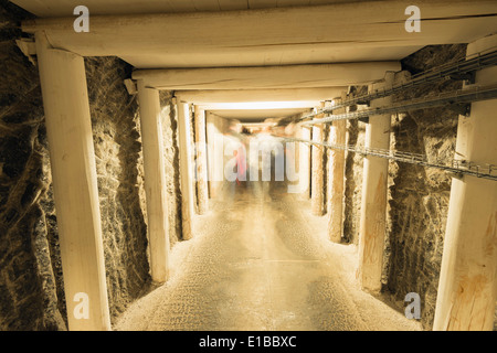 Europe, Poland, Malopolska, Krakow, Wieliczka Salt Mine, tourist route, Unesco site - Stock Photo