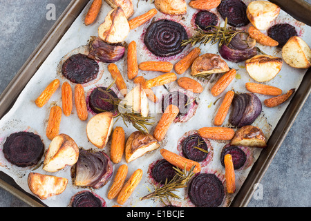 Beets, carrots, potatoes and purple onions roasted with ...