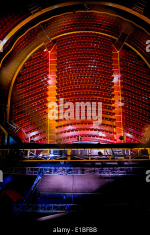 A view from the very top of the auditorium of The Dome theatre in Brighton, East Sussex, UK - Stock Photo