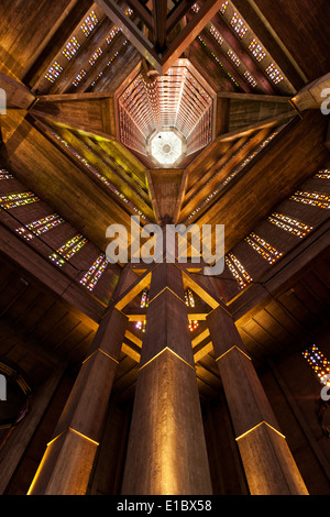 interior view of the church of saint joseph le havre france stock photo royalty free image. Black Bedroom Furniture Sets. Home Design Ideas