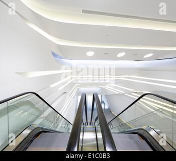 Jockey Club Innovation Tower, Hong Kong, China. Architect: Zaha Hadid Architects, 2014. - Stock Photo