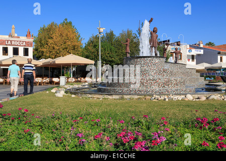 Fountain in Old Town, Marmaris, Turkey, Mediterranean - Stock Photo