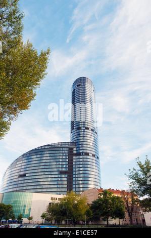 Europe, Poland, Silesia, Wroclaw, Sky Tower - Stock Photo