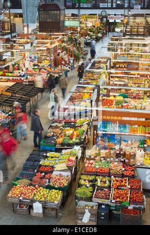 Europe, Poland, Silesia, Wroclaw, Hala Targowa market hall - Stock Photo