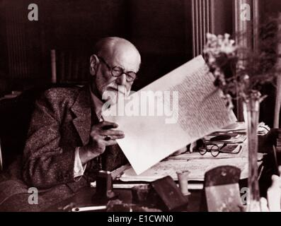 Sigmund Freud (1856-1939). Austrian neurologist, known as the founding father of psychoanalysis - Stock Photo