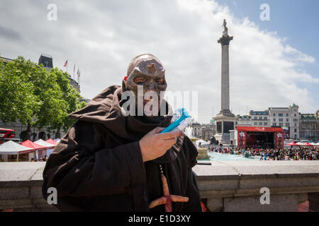 London, UK. 31st May 2014. Zombie Walk in London Credit:  Guy Corbishley/Alamy Live News - Stock Photo