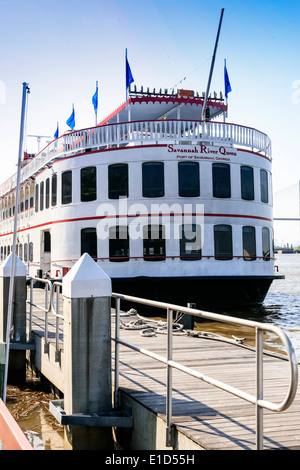 The Savannah River Queen Paddle Steamer - Stock Photo