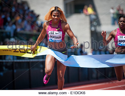 Eugene, OR, USA. 31st May, 2014. The Prefontaine Classic, the longest-running international invitational meet in - Stock Photo