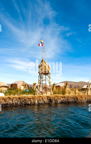 Uros - Floating Islands, Titicaca, Peru - Stock Photo