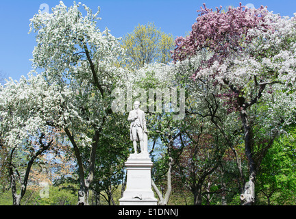 Statue of Alexander Hamilton in Central Park. New York City, NY, USA. - Stock Photo