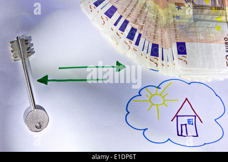 money for dreams - Stock Photo