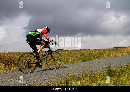 Trough of Bowland, Lancaster, UK 1st June, 2014.  Le Terrier Sportive.  Three routes taking in Jubilee Tower and - Stock Photo