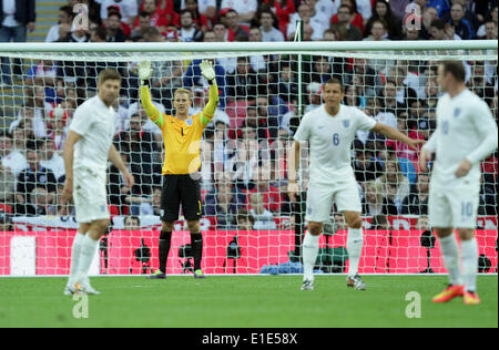 England v Peru - friendly . . London, UK . . 30.05.2014 Joe Hart, England. **This picture may only be used for editorial - Stock Photo