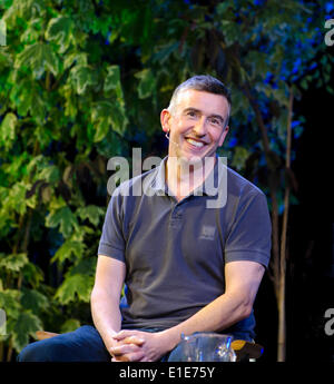 Hay on Wye. 01st June, 2014. Steve Coogan, actor, comedian, script writer of Philomena gives talk at The Hay Festival, - Stock Photo