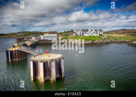 The ferry terminal at Lochboisdale, South Uist, Outer Hebrides, Scotland, UK - Stock Photo
