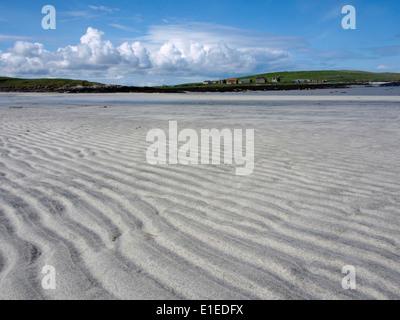 Port nan Long beach, North Uist, Outer Hebrides, Scotland - Stock Photo
