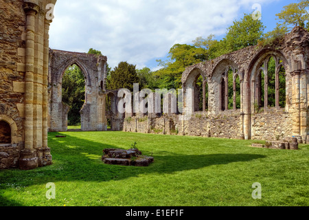 Netley Abbey, Southampton, England, United Kingdom - Stock Photo