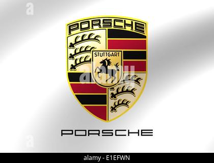 Porsche Logo Symbol Icon Flag Emblem Stock Photo 69775804 Alamy